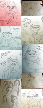 Little Nightmares doodles -8- by Cageyshick05