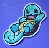 Embroidered Squirtle patch by goiku