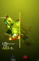 Life is better with art in it by EnriqueMorgan