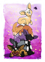 Corgi Pile by Crimson-Mane