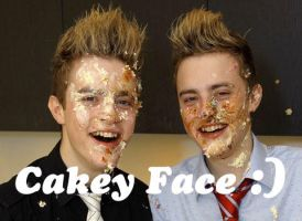 Jedward cakey faces by Bex-the-t-rex