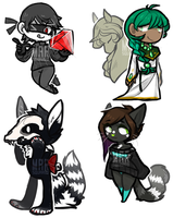 $10 Chibis batch 1 by marsquared
