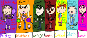 the seven deadly sins by kitkat567