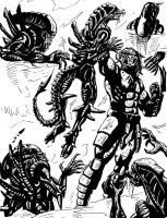 Aliens vs Predator by Vatos