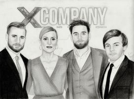 Cast of X Company (Graphite Drawing) by julesrizz