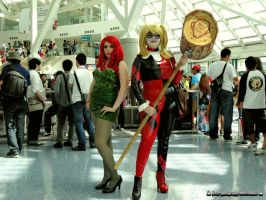 Poison Ivy and Harley Quinn by bear213