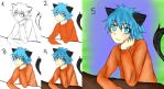 Step by step - He's looking at you~ by Viki-nyan