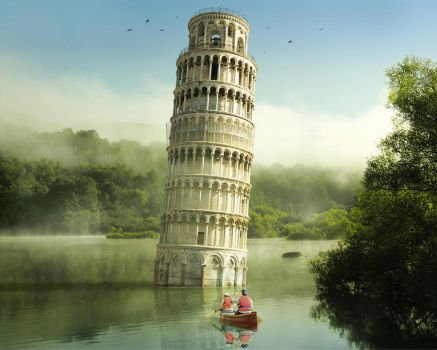 Boating to Pisa Wallpaper by Pac0daTac0