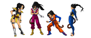 DBZ Outfits - oc by RErrede