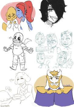Undertale Sketches by Garbedz
