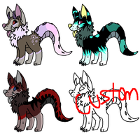 Monster Dogs (OPEN) by Neon-Spots-Adopts