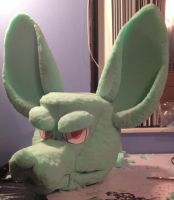Second Fursuit head WIP by toxicfox100