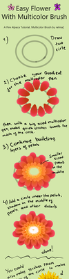 Flower Tutorial with Multicolor Brush by rimirinchan