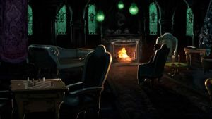 Pottermore Background: Slytherin Common Room by xxtayce