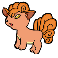 Vulpix Version 2 by water16dragon