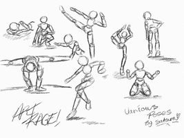 Various poses on art rage by sakura11