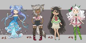 adventure time adoptables [closed] by faycoon