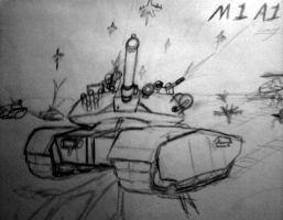 M4A1 tank by Halotkl