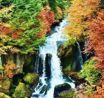 Waterfall Japan by Fischstaebchen