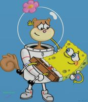 Spongebob and Sandy by FrankYounghacker