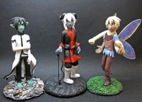 Anime figure commission- Helmy + Finnian + Drae by Tsurera