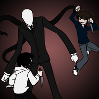Jeff VS Slenderman VS Jane by Kiki-Hyuga