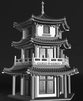 Pagoda 3d Model by xmas-kitty