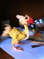Chocobo in progress... by SecretAgtPanda