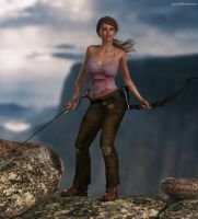 Young Lara surviving 2 by JpauCroft