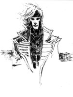 Gambit Sketch by aaronminier