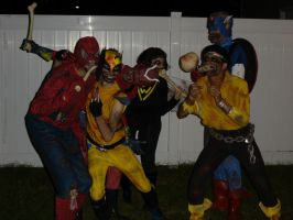 Marvel Zombies at Night by Derrico13