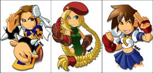Street Fighter Gals by herms85