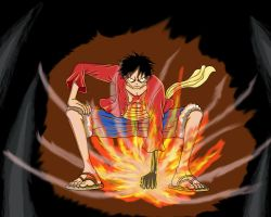 Luffy - Ready to fight Blackbeard by TolkienOP