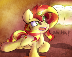 Sunsetshimmer ah ha! by kyodashiro