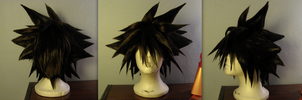 Sora Wig Kingdom Hearts II by sparr0