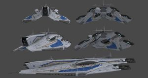 Alliance Destroyer - Alsek Class (Concept) by nach77