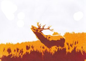 Autumn Stag by Ali-Radicali