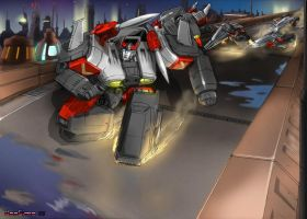 WW Bluestreak... TRANSFORM by hansime