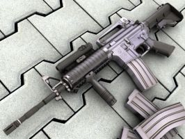 M4a1 ris highpoly by MrSmive