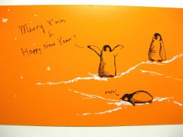 penguin postcard for Chirstmas by wwei