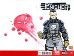 Punisher watercolor sketch cover by mdavidct