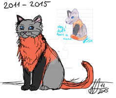 Sketchy redraw - Cat without a name by Laurosaurus