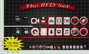 Red Icon Pack for Mac by ThEPaiN321