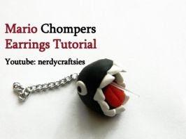 Mario Chompers Earrings Tutorial by NerdEcrafter