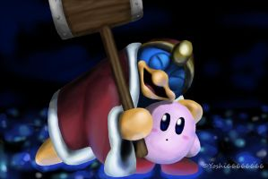 Cute Dedede and Kirby Brawl. by Yoshi66666666