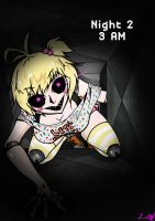 Toy Chica in the air vent FNAF 2 (please read!) by SpavVy