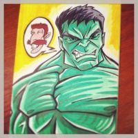 Smashing HULK - Marker Sketch by TrulyEpic