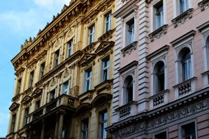 Architectural faces of Praha by TheNimster