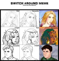 Switch Around Meme by KareauxLine
