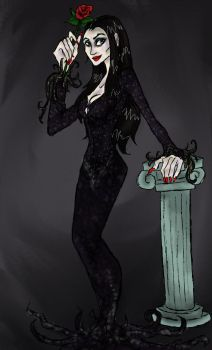 The Lovely Mrs. Addams by artemisroseshadow